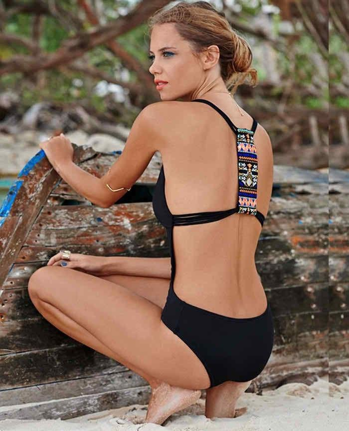Lara - Backless Tribal Monokini