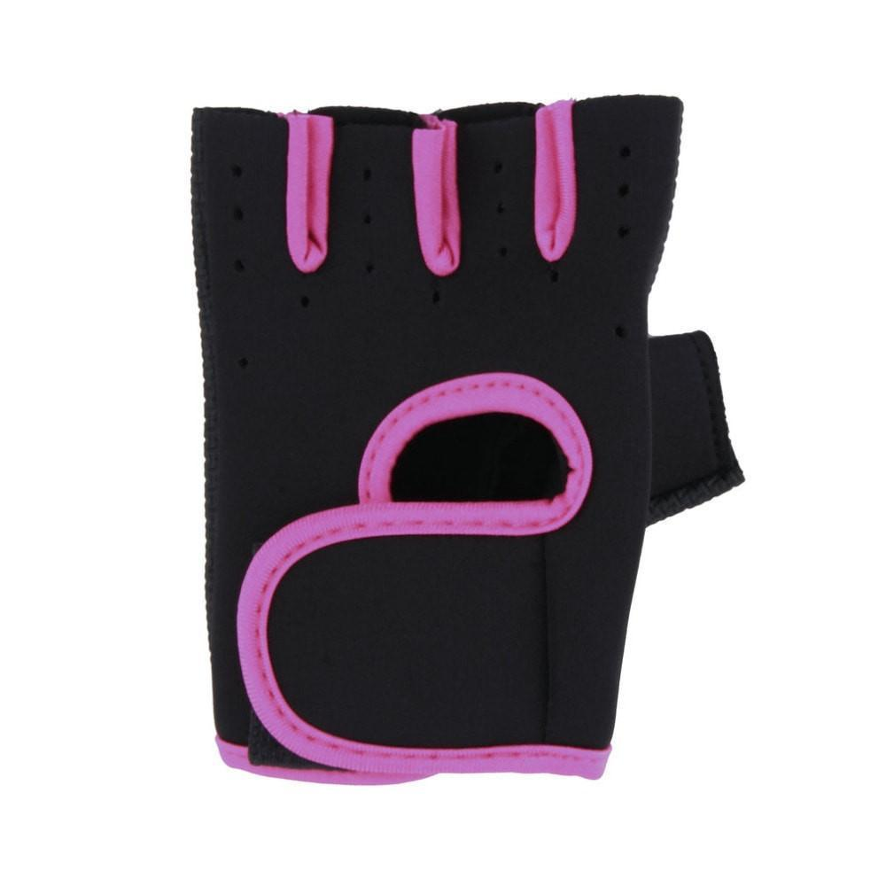 Half Finger Gym Gloves with Ergonomic Sponge Palm Pads