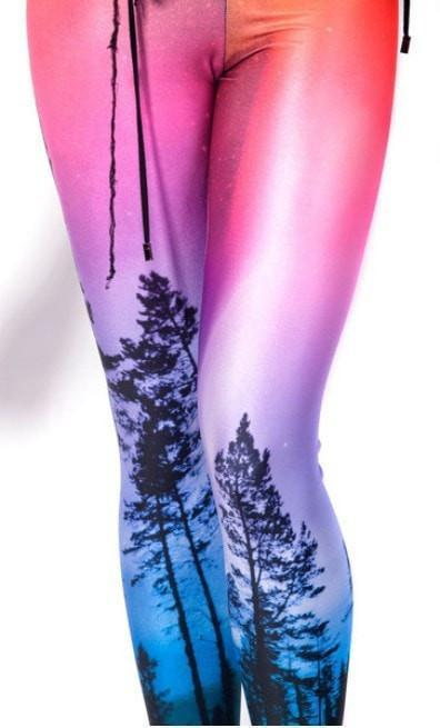 Fashion Digital Printed Aurora Sky Women Leggings