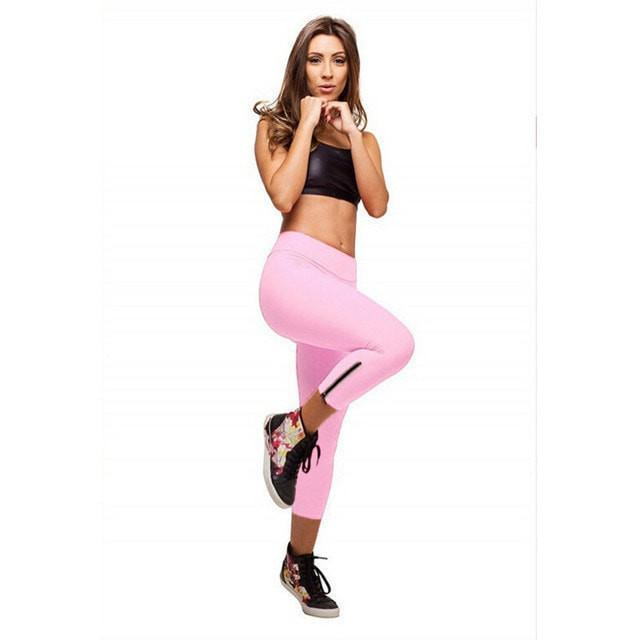 Sexy Cropped High Waist Running Leggings