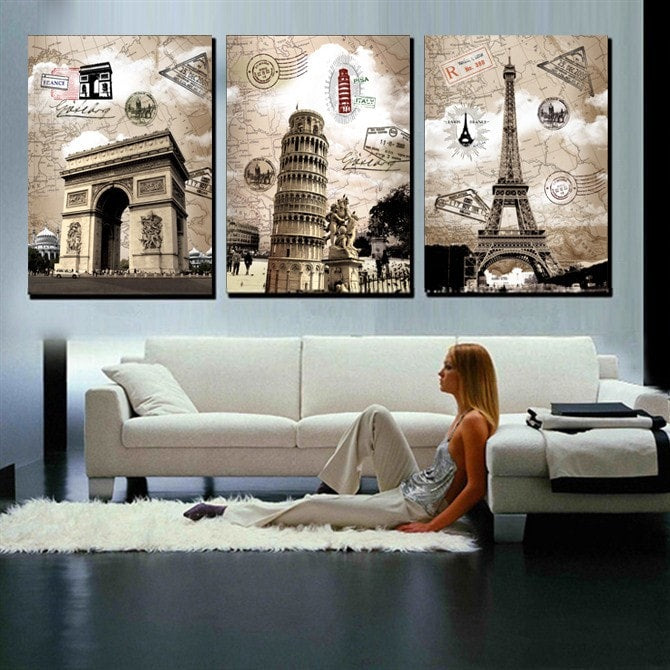 Art Pictures Street Styles Printed Canvas