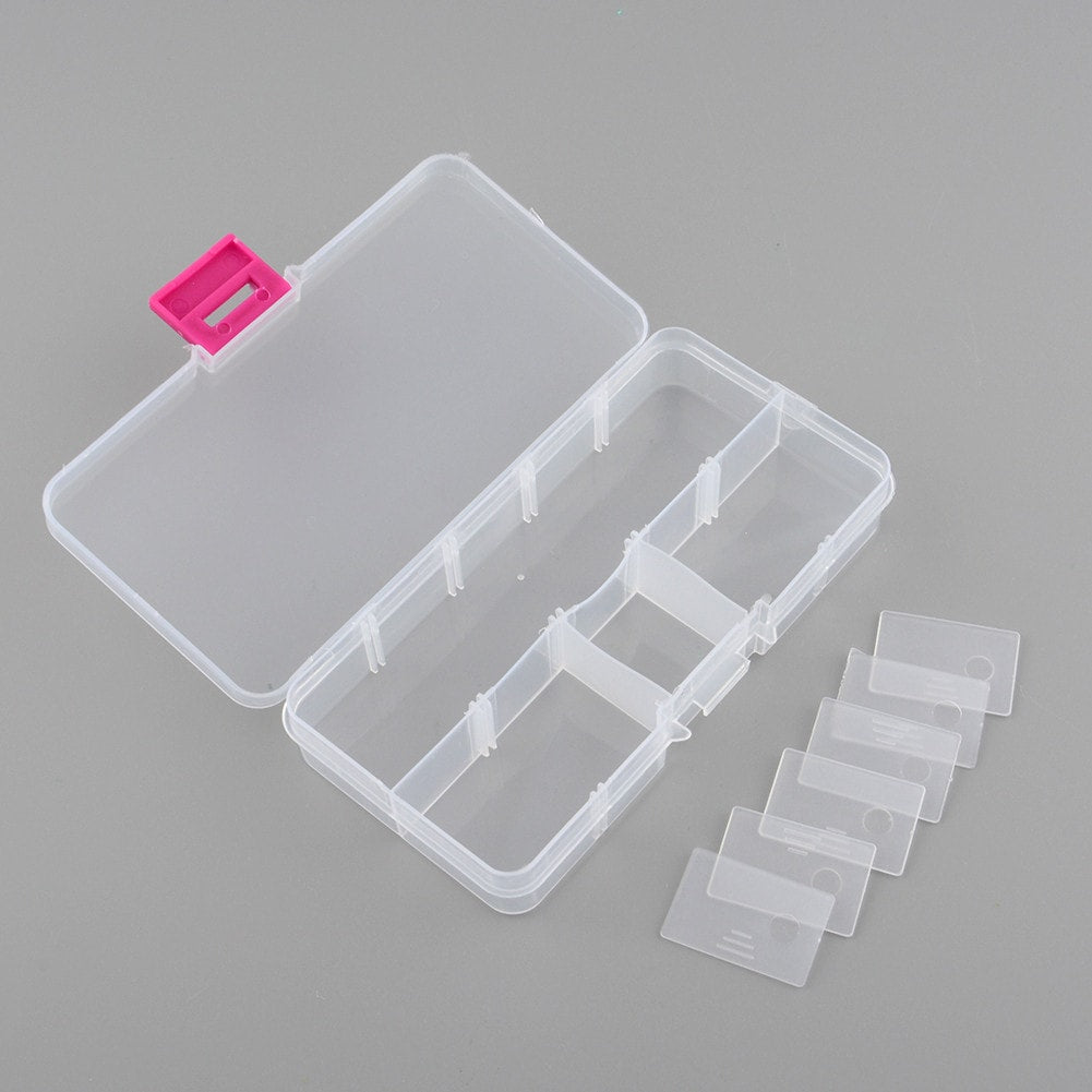 FREE Plastic 10 Slots Compartment Storage Box - 2 pieces