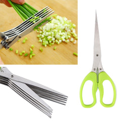 Multi-functional Stainless Steel  Herb Spices Scissors