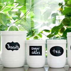 FREE Jars Blackboard Stickers Chalkboard Lables