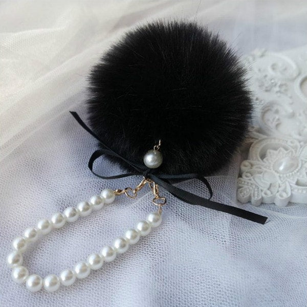 FREE Cute & Fashion POM POM Fur Ball Key Chain Imitate Rabbit Fur