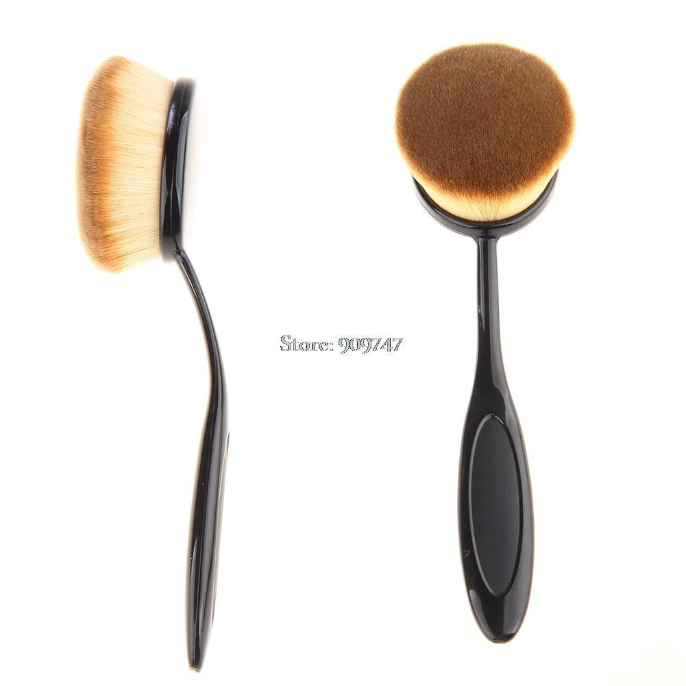 Pro Oval Face Powder Foundation Soft Curve Brushes