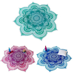 Flower Mandala  Beach Blanket