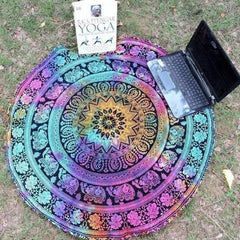 Multicolor Mandala Round Beach Blanket