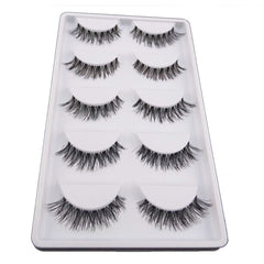 10 Pairs Handmade False EyeLashes - Natural Soft Look