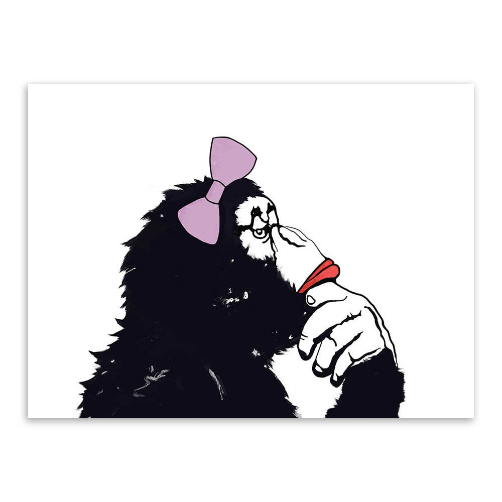 Chimp Cartoon Art Print Poster