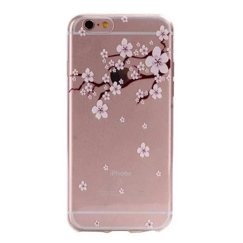 FREE * iPhone Case* 6 6S Clear Transparent Flower Pattern Soft TPU