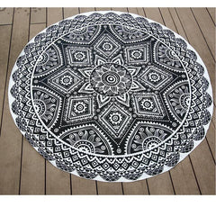 Beautiful Antique Round Indian Mandala Tapestry -Beach Blanket