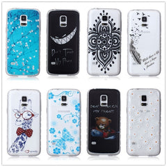* Samsung  Case * S5 mini  Fashion Skid Clear Soft Silicone Case