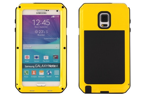* Samsung  Case *  Note4 SnowProof DirthProof Shockproof Aluminum Case Cover + Tempered Glass