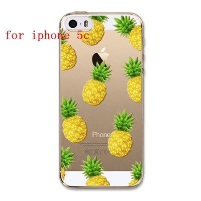 FREE * iPhone Case* 4 4S 5 5S 5C 6 6S 6Plus 6s Plus FruitFashion Soft Silicon Transparent Thin Case