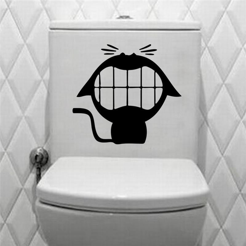 FREE Big Mouth Toilet Stickers Waterproof