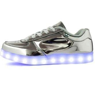Fashion Metallic Led Luminous Running Shoes