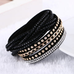 Rivet Leather Punk Style Multi-Layer Bracelets & Bangles