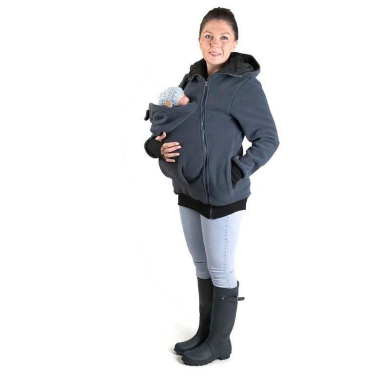 Cute Winter Maternity Kangaroo Coat