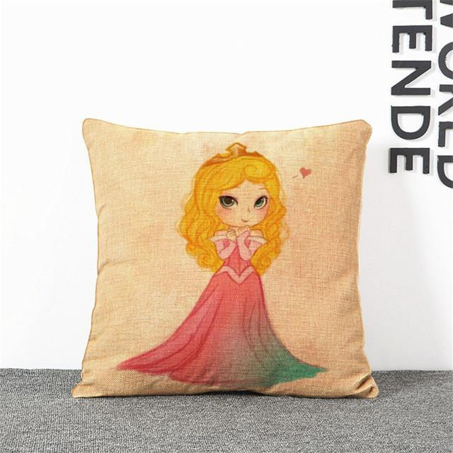 Cartoon Princess Pillow Case