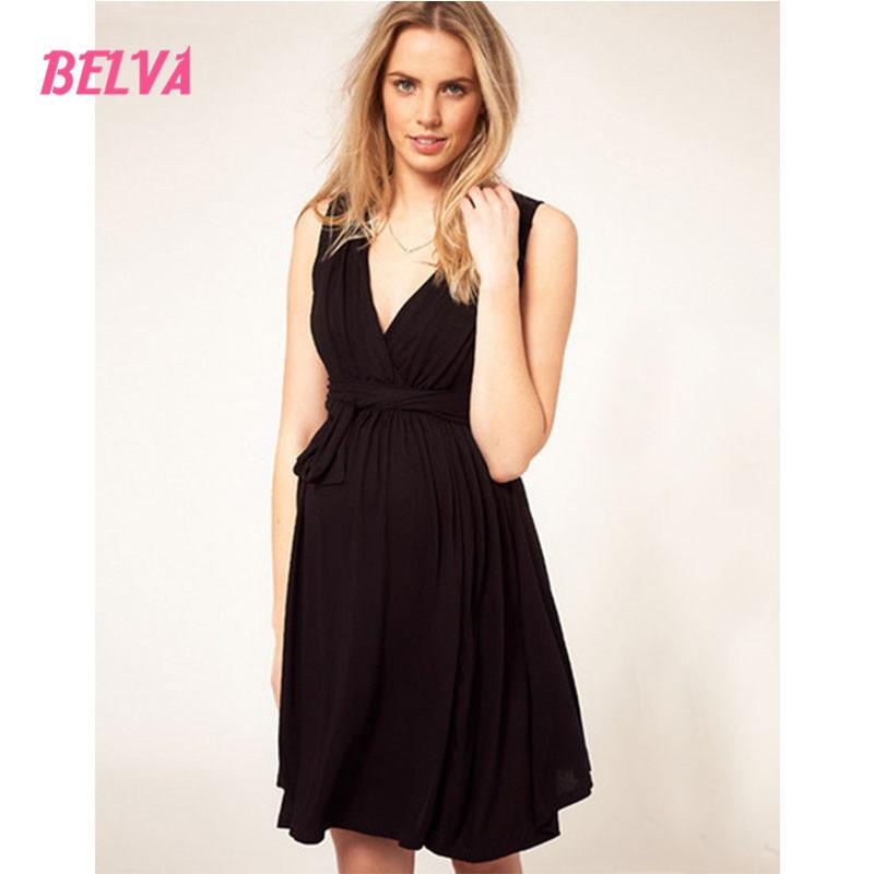 b941ce24a568 V Neck Pregnant Short Summer Dress