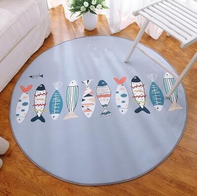 Bedroom Children 's Circular Carpet - Different Styles