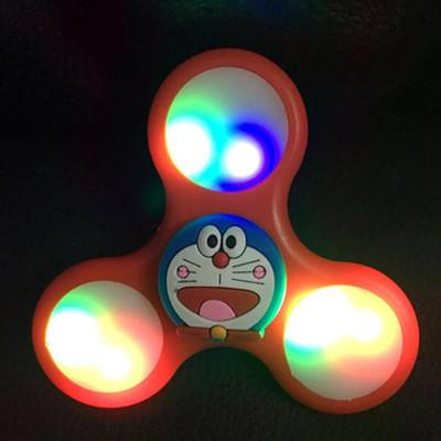 Cartoon LED Flash Tri-Spinner Anti Stress Toy
