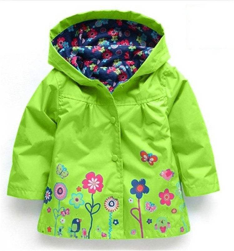 Children Winter Outwear Hooded Jacket Raincoat