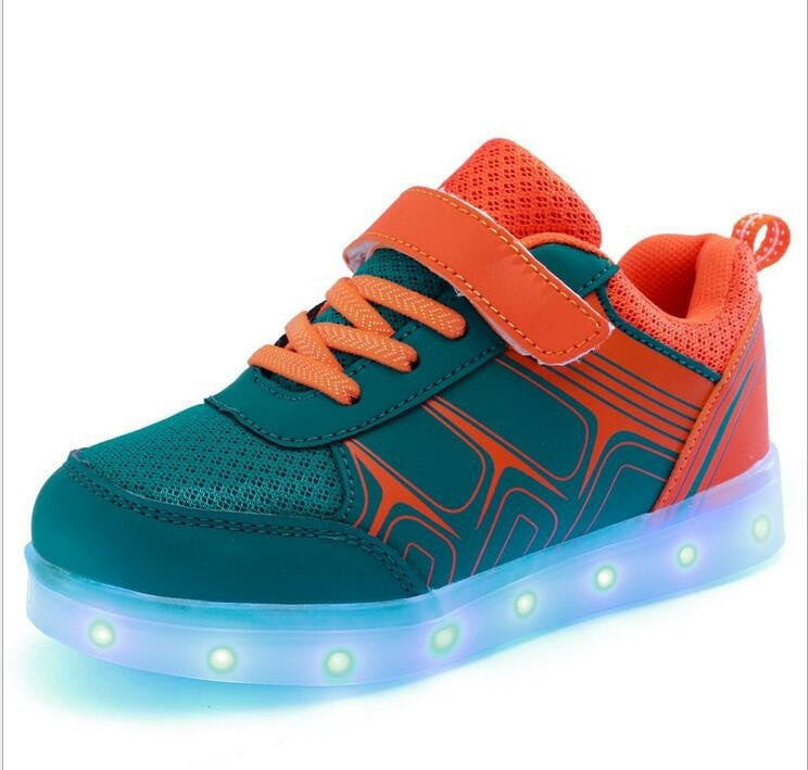 New USB Rechargeable Colorful Lights LED Sneakers