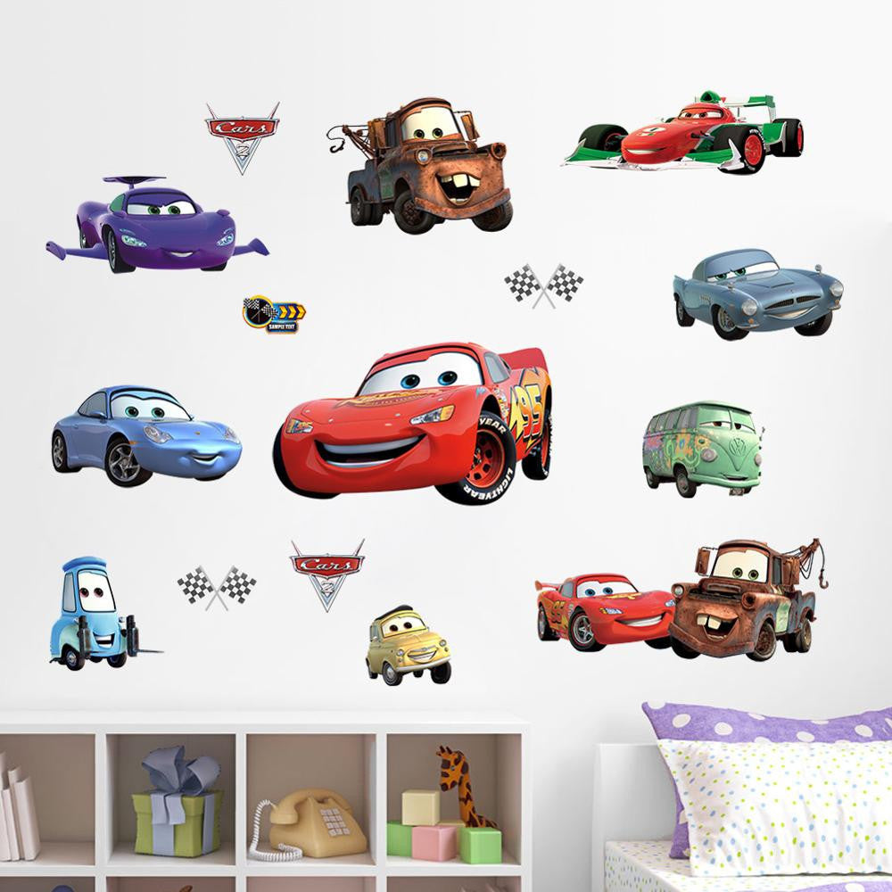 Cartoon Cars Child Room Wall Stickers
