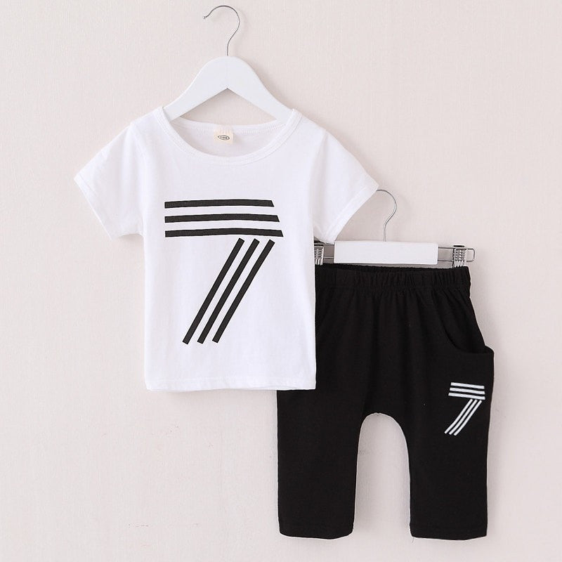Cartoon Casual Cotton Toddler Clothing Set