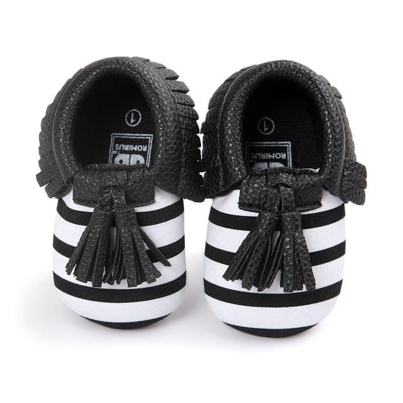 Leather Toddler Baby Children First Walkers Crib Moccasins
