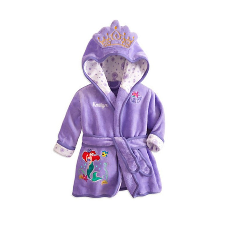 Children Soft Hooded Bathrobe Towel