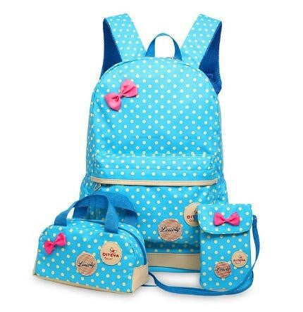 Cute Teenage Girls Backpacks Set
