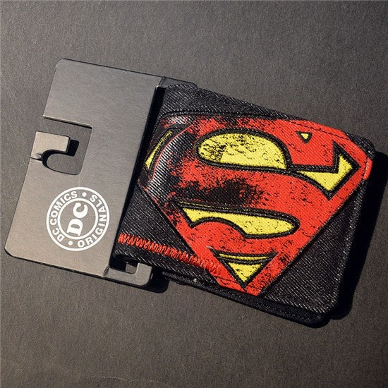 Comic Cartoon Texturized Wallet No Zipper With Interior Compartment
