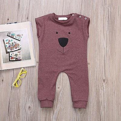 Bear Sleeveless Baby Romper