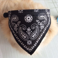 Bandana Adjustable Neckerchief Paisley Pattern Dog Scarf Collar