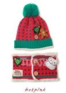 Christmas Knitted Hat+Scarf Set