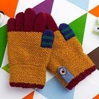 Colorful Patchwork Children Knitted Gloves
