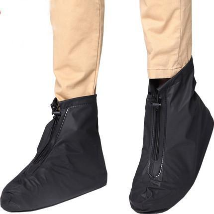 Solid Black Waterproof Overshoes