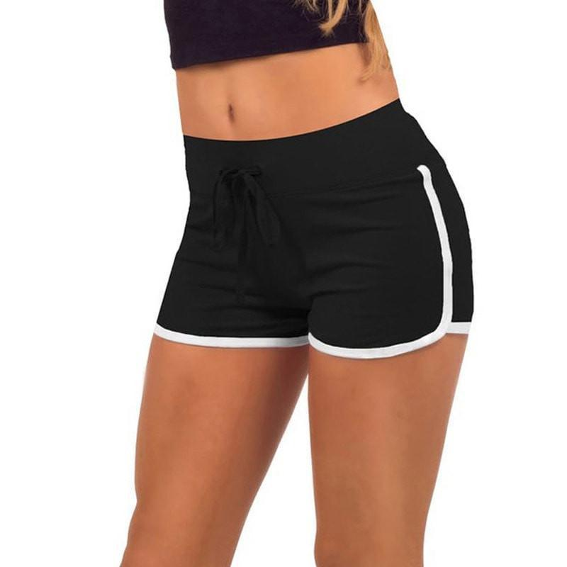 Leisure Loose Casual Running Women Cotton Sports Shorts - Contrast Binding Side Split