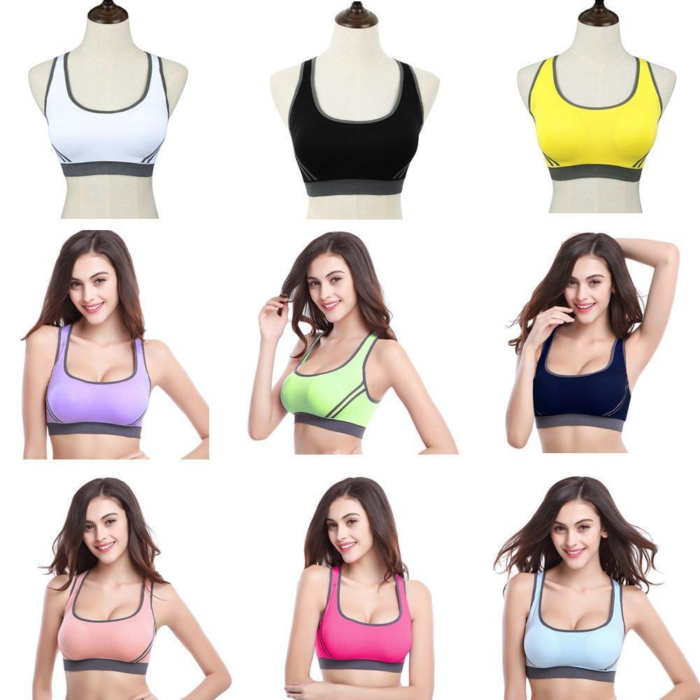Women Sports Seamless Padded Push Up Bra For Running Gym & Fitness