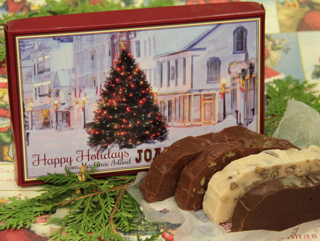 Christmas Four Slice Box of Fudge First Delivery
