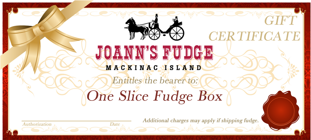 Gift Card - per fudge slice
