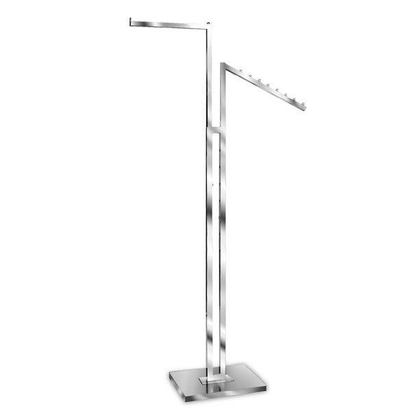 2 Way Adjustable Rack with Straight & Slanted Arm