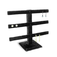 Black 3 Bar Earring Display
