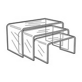 Beveled Edge Risers ( Set of 3)