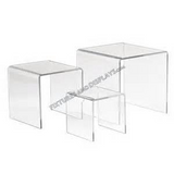 Acrylic Plexi Risers ( Set of 4)