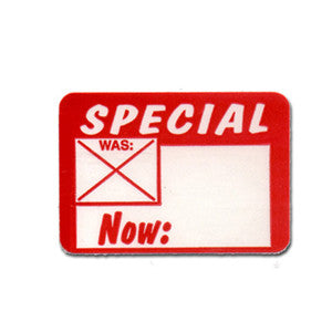 Special Price Adhesive Tags