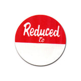 Round Reduced Price Tags